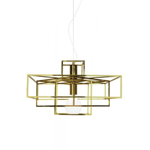 Globen Lighting Cube pendant brass // Cube függőlámpa réz
