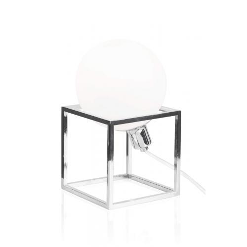 Globen Lighting Cube table lamp chrome // Cube asztali lámpa króm