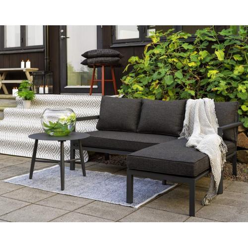 Brafab Delia outdoor divan sofa dark grey enterior/kültéri lounger kanapé sötétszürke enteriőr