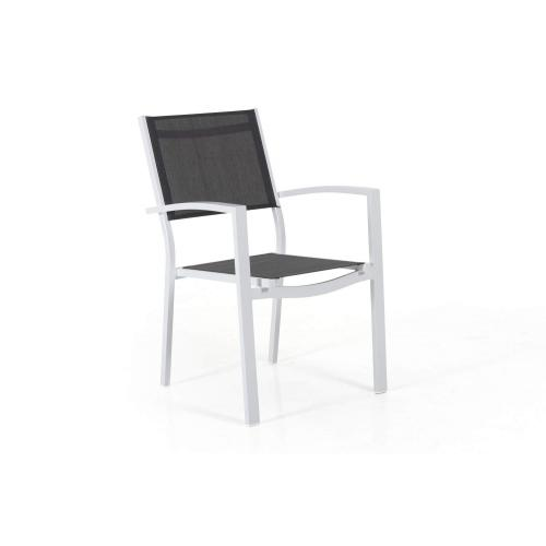 Brafab Leone outdoor armchair white/kültéri étkezőszék fehér