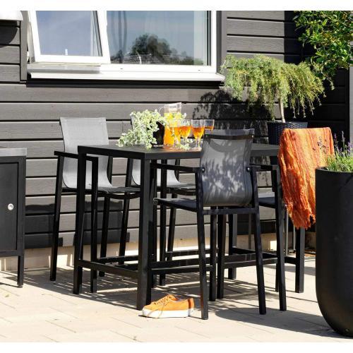 brafab belfort outdoor bar table black/kültéri bárasztal fekete