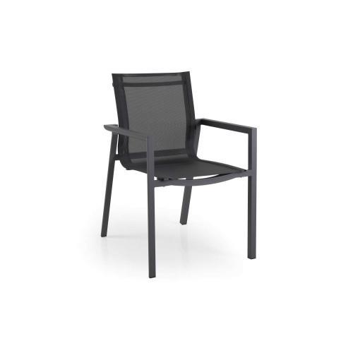brafab delia outdoor dining armchair with textile grey front/kültéri étkezőszék textillel szürke elől