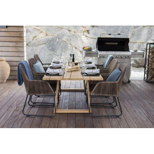 Brafab Laurion outdoor dining table natural enterior/kültéri ebédlőasztal fa enteriőr