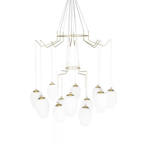 Globen Lighting Divine 12 pendant brass // Divine 12 függőlámpa réz