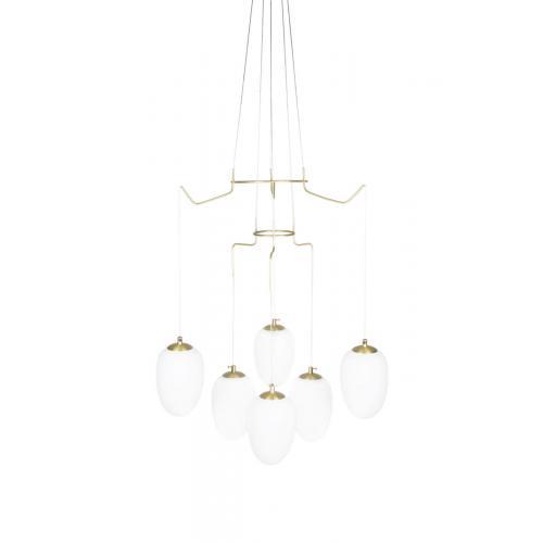 Globen Lighting Divine 6 pendant brass // Divine 6 függőlámpa réz