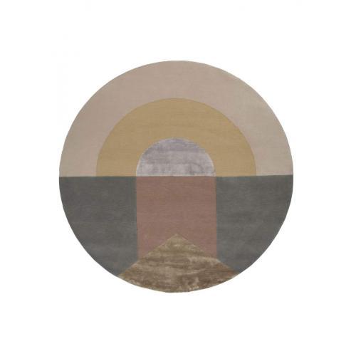 Linie-design-Seraphic-sun-round-rug-kerek-szonyeg